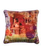 Neo Nawab Thinking Silk with Poly Dupion Back & Piping Cushion Cover-11183