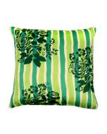 Tamara Green Flowers Poly Velvet Cushion Cover-11193