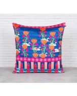 India Circus Abies Alba Lotus Duck Pond Blended Taf Silk Cushion Cover