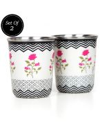Chevron Insignia Small Steel Tumbler (Set of 2)