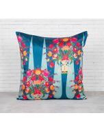 India Circus Conifer Affair Blended Taf Silk Cushion Cover