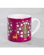 India Circus Deer and Conifer Garden Expresso Mug