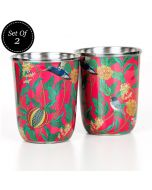 Flights of Vivers Small Steel Tumbler (Set of 2)
