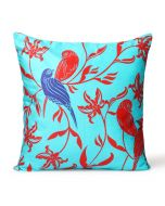 Chirping birds Poly Velvet Cushion Cover