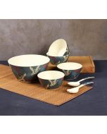 India Circus Aerial Moments Bamboo Salad Bowl Set