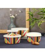 India Circus Arrow Exposition Bamboo Container Set