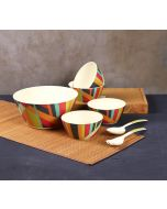 India Circus Arrow Exposition Bamboo Salad Bowl Set