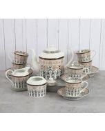 India Circus Artisans Impression Tea Cup & Saucer Set of 17 pcs