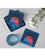 India Circus Artistic Intimacy Table Coaster