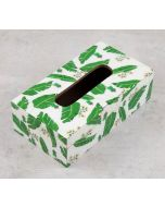 India Circus Banana Leaves Tissue Box Holder