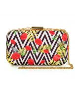 India Circus Bayrose Chevron Clutch