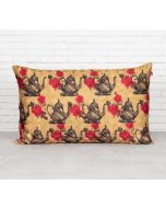India Circus Beige Mystic Rose Kettles Decorative Scale Cushion Cover