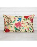 "India Circus Bird Land 20"" x 12"" Blended Taf Silk Cushion Cover"
