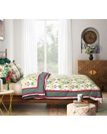 India Circus Blooming Dahila Quilted Bed Cover Set