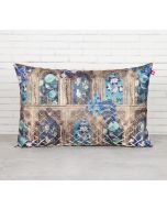 India Circus Blue Departed Memoirs Decorative Scale Cushion Cover