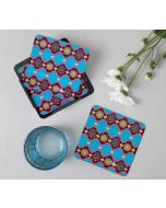 India Circus Blue Latticed Synergy Table Coaster