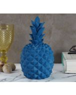 India Circus Blue Pineapple Decor Accent