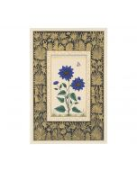 India Circus Blue Sunflower Handmade Poster