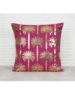 India Circus Blushed Palmeria Foil Cushion Cover