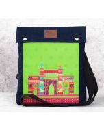 India Circus Bombay Dramatics Sling Denim Backpack