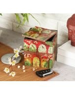 India Circus Capacious Corridor Square Storage Box