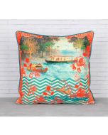 India Circus Chevron Backwaters Blended Taf Silk Cushion Cover