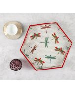 India Circus Chevron Butterflies Hexagon Serving Tray