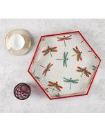 India Circus Chevron Butterflies Hexagon Serving Tray