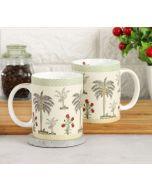 India Circus Chevron Palms Coffee Mug