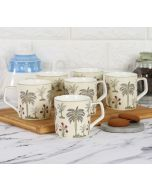 India Circus Chevron Palms Mug Set of 6