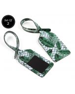 India Circus Chevron Tropical Leaves Travel Tag Set of 2