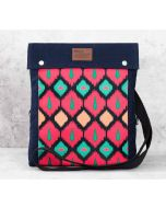 India Circus Conifer Symmetry Sling Denim Backpack