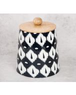India Circus Conifer Symmetry Wooden Jar