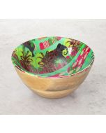 India Circus Countryside Tusker Wooden Bowl