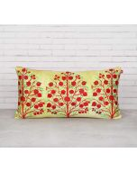 "India Circus Cream Mystical Pomegranate 16"" x 8"" Blended Velvet Cushion Cover"