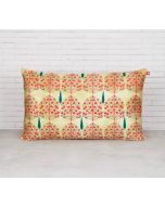 "India Circus Cream Mystical Pomegranate 20"" x 12"" Blended Velvet Cushion Cover"