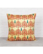 India Circus Cream Mystical Pomegranate Blended Velvet Cushion Cover