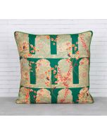India Circus Cypress Vines Blended Taf Silk Cushion Cover