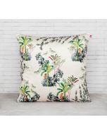 India Circus Desert Plants Blended Velvet Cushion Cover