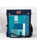 India Circus Design Assembly Sling Denim Backpack
