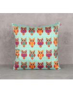 India Circus Disco Hedwig Blend Taf Silk 16 x 16 Cushion Cover