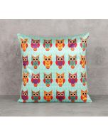 India Circus Disco Hedwig Blend Velvet 16 x 16 Cushion Cover