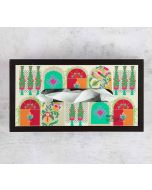 India Circus Doorframe Story MDF Tissue Box Holder