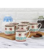 India Circus Enchanted Waves Coffee Mug Set of 6