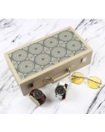India Circus Ethnic Circles Leather Watch and Eyeware Box