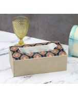 India Circus Fauna Darbar Leather Tissue Box Holder