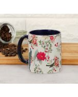 India Circus Feathered Garden Beige Coffee Mug