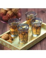 India Circus Flight of Birds Chai Glass (Set of 4)