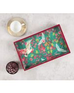 India Circus Flight of Cranes Rectangle Serving Tray