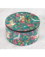 India Circus Flight of Cranes Round Storage Box